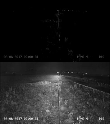 mini robust - ir projektör - gece görüş - 25 derece - ON OFF